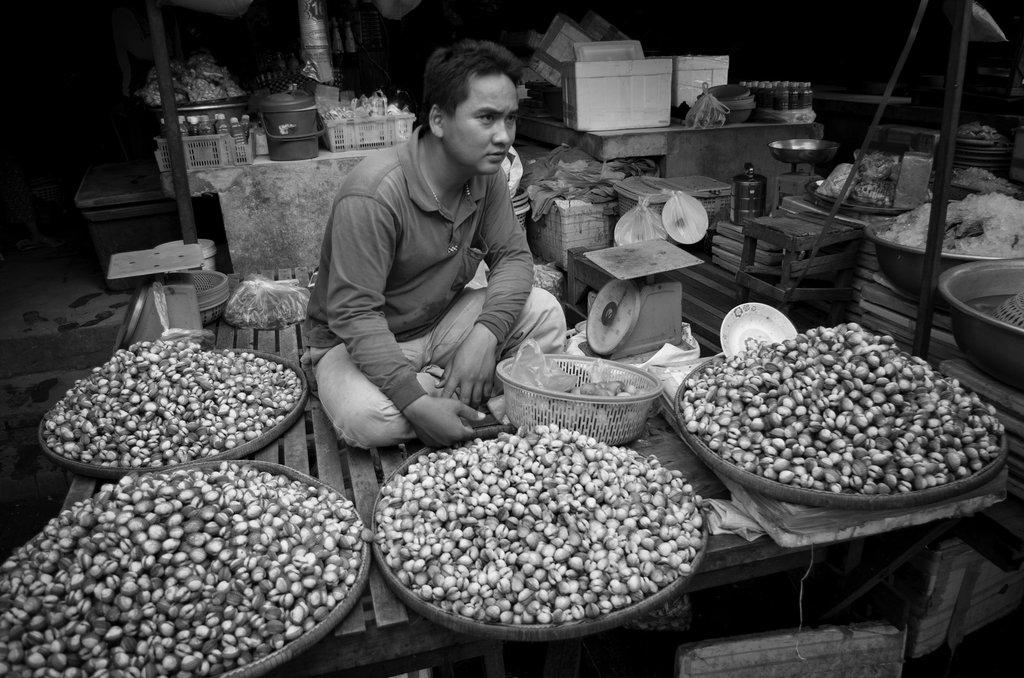 Markthändler in Battambang