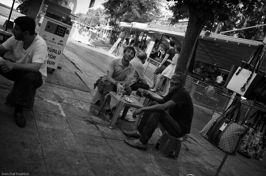 Das Leben spielt sich auf der Straße ab.